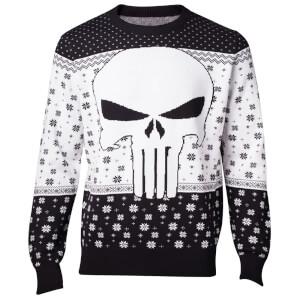 Marvel The Punisher Christmas Knitted Jumper - Black