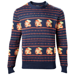 Zelda Holiday Knitted Christmas Knitted Jumper - Navy