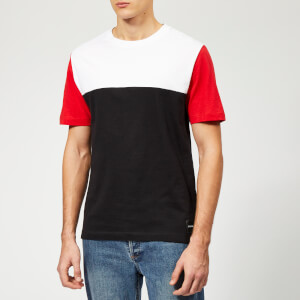 Calvin Klein Jeans Men's Colour Block T-Shirt - Black/Bright White/Red