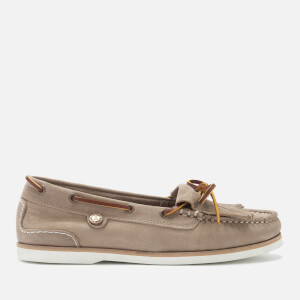 Barbour Women's Ellen Suede Moccasin Boat Shoes - Stone