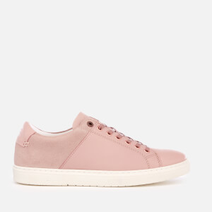 Barbour Women's Catlina Leather Cupsole Trainers - Pink