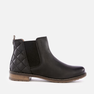 Barbour Women's Abigail Leather Quilted Chelsea Boots - Black