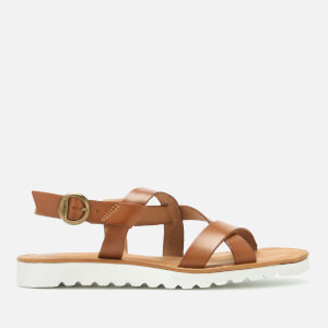 Barbour Women's Sandside Leather Strappy Sandals - Tan