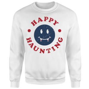 Happy Haunting Fang Sweatshirt - White