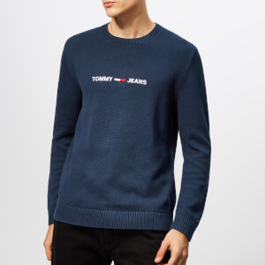 Tommy Jeans Men's Small Logo Sweatshirt - Black Iris