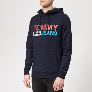 Tommy Jeans Men's Corporate Logo Hoody - Black Iris