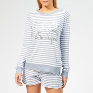 Superdry Women's Melissa Grace Loungewear Set - Ash Blue Stripe