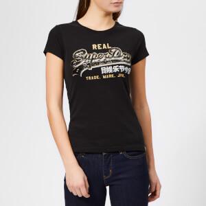 Superdry Women's Vintage Logo Star Sequin Entry T-Shirt - Black
