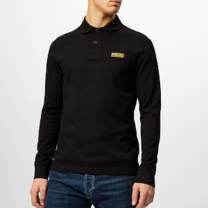 Barbour International Men's Long Sleeve Polo Shirt - Black