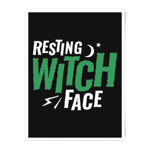 Resting Witch Face Art Print