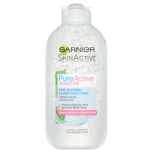 Garnier Pure Active Sensitive Anti-Blemish Clarifying Toner -kasvovesi 200ml
