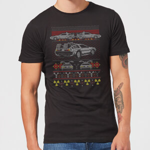 T-Shirt de Noël Homme Back In Time For Retour Vers le Futur - Noir
