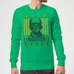 Universal Monsters Frankenstein Christmas Pullover - Grün