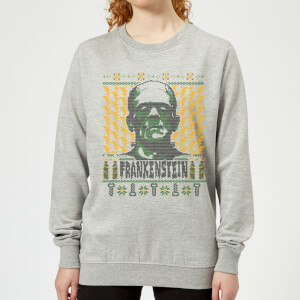 Universal Monsters Frankenstein Christmas Women's Sweatshirt - Grey
