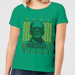 T-Shirt de Noël Femme Universal Monsters Frankenstein - Vert