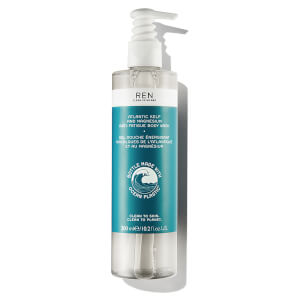 Gel de baño antifatiga Atlantic Kelp and Magnesium de REN 300 ml - Ocean Plastic