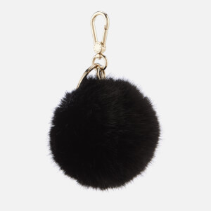 Furla Women's Bubble Pom Pom Keyring - Black