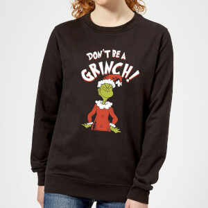The Grinch Dont Be A Grinch Women's Christmas Sweater - Black