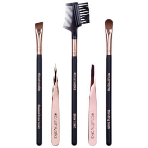 brushworks Luxury Brow Set zestaw akcesoriów do brwi – Rose Gold
