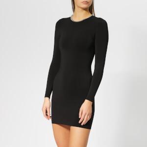 Alexander Wang Women's Dress with Ballchain Neck - Black