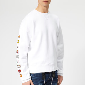 Dsquared2 Men's Sleeve Logo Sweatshirt - White