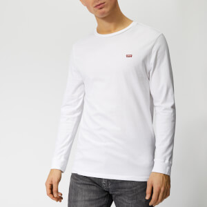 Levi's Men's Original Long Sleeve T-Shirt - Cotton Patch White