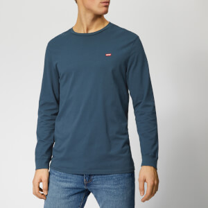 Levi's Men's Original Long Sleeve T-Shirt - Cotton Patch Dress Blues