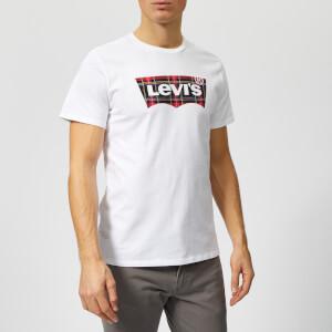 Levi's Men's Housemark Graphic T-Shirt - Plaid Fill White