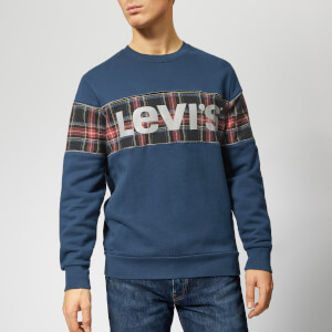 Levi's Men's Reflective Crew Sweatshirt - Piping Dress Blues