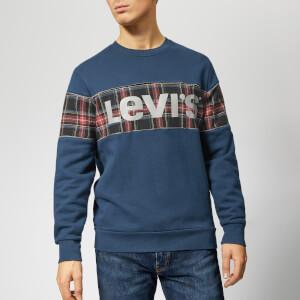 08eeb301397c0 Levi s Men s Reflective Crew Sweatshirt - Piping Dress Blues