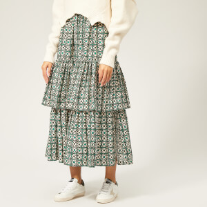 Golden Goose Deluxe Brand Women's Miranda Skirt - Green Flowers