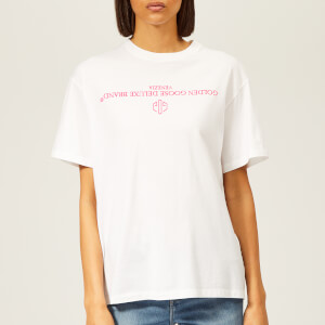 Golden Goose Deluxe Brand Women's Golden T-Shirt - White/Fuchsia Reversed Logo