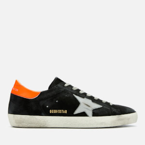 Golden Goose Deluxe Brand Men's Superstar Suede Trainers - Black/Silver Matt Star