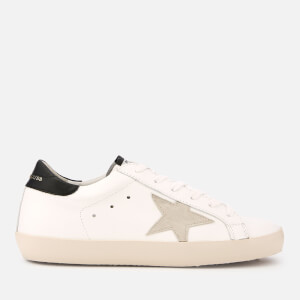 Golden Goose Deluxe Brand Women's Superstar Leather Trainers - White/Black/Gold Lettering