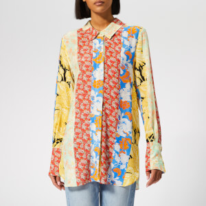 Stine Goya Women's Virgo Shirt - Floral Wallpaper