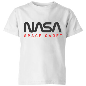 NASA Space Cadets Chest Kids' T-Shirt - White
