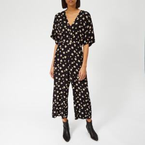 Whistles Women's Edelweiss Print Button Jumpsuit - Black/Multi