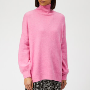 Whistles Women's Oversized Slouchy Funnel Neck Knit Jumper - Pink