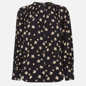 Whistles Women's Edelweiss Print Blouse - Black/Multi