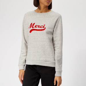 Whistles Women's Merci Embroidered Sweatshirt - Grey Marl