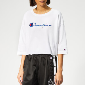 Champion Women's Cropped 3/4 Sleeve T-Shirt - White