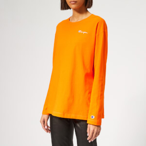 Champion Women's Long Sleeve Crew Neck T-Shirt - Orange