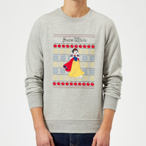 Disney Classic Snow White Christmas Sweatshirt - Grey