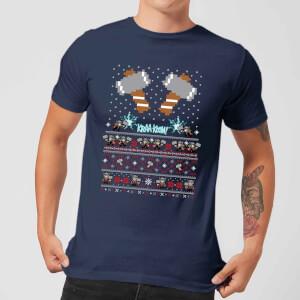 Marvel Avengers Thor Pixel Art kerst T-shirt - Navy