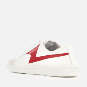 PS Paul Smith Men's Ziggy Leather Lightning Trainers - White/Red: Image 2