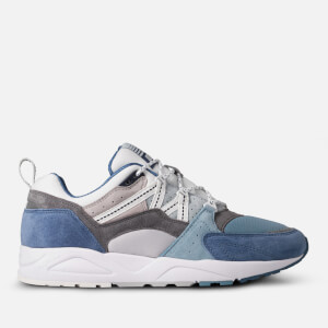 Karhu Men's Fusion 2.0 Runner Style Trainers - Lunar Rock/Moonlight Blue