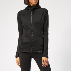 adidas Women's Trace Rocker Hooded Fleece Jacket - Black