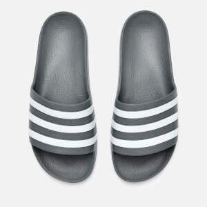 adidas Men's Adilette Aqua Slide Sandals - Grey Three