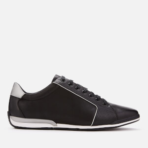 BOSS Men's Saturn Low Profile Leather Trainers - Black