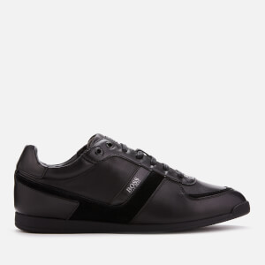 BOSS Men's Maze Low Profile Leather Trainers - Black